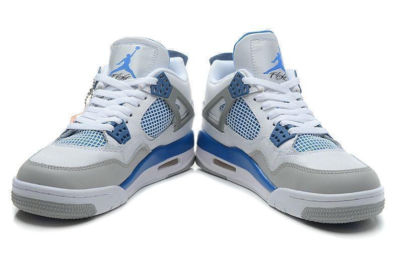 Air Jordan 4 Retro Military Blue (White/Blue/Grey) фото #2 в «GetKeds»