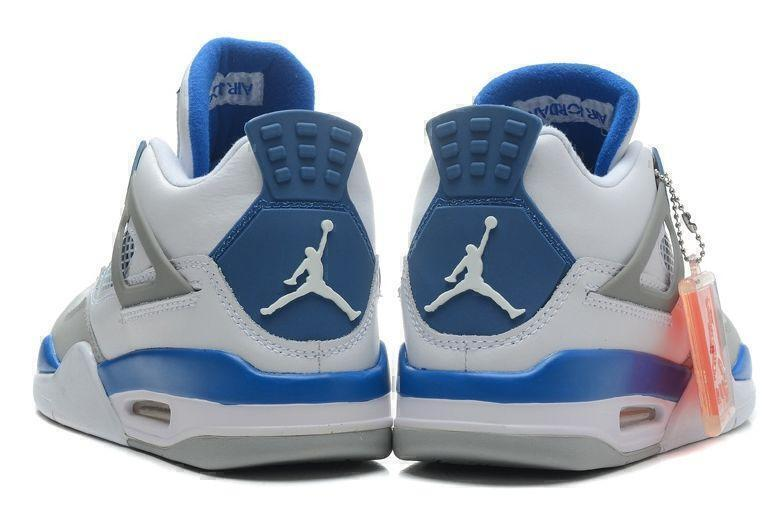 Air Jordan 4 Retro Military Blue (White/Blue/Grey) фото #3 в «GetKeds»