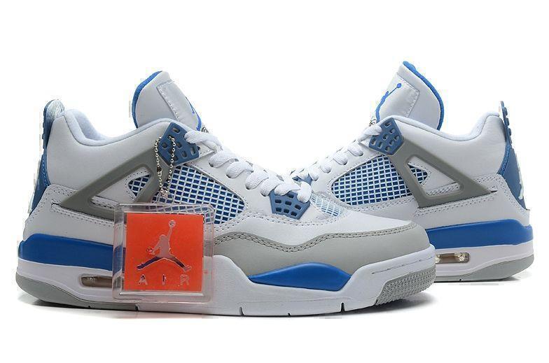 Air Jordan 4 Retro Military Blue (White/Blue/Grey) фото #4 в «GetKeds»