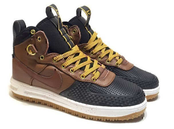 Кроссовки Nike Lunar Force 1 Duckboot (Brown/Black) фото в «GetKeds»
