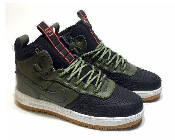 Кроссовки Nike Lunar Force 1 Duckboot (Olive/Black) фото в «GetKeds»