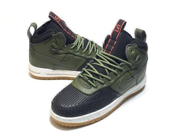 Nike Lunar Force 1 Duckboot (Olive/Black) фото #4 в «GetKeds»