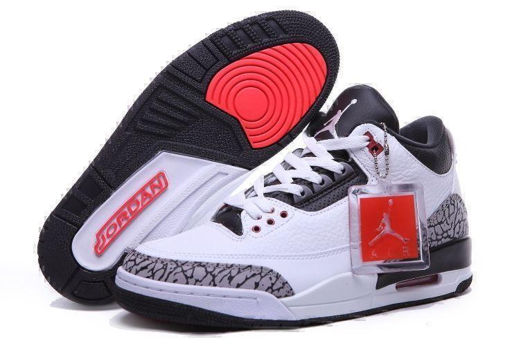 Кроссовки Air Jordan 3 Retro (White/Black) фото в «GetKeds»