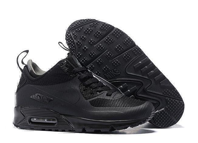 Кроссовки Nike Air Max 90 Mid (Black) фото в «GetKeds»