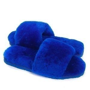 Угги UGG Fluff Slide Slippers Electric Blue