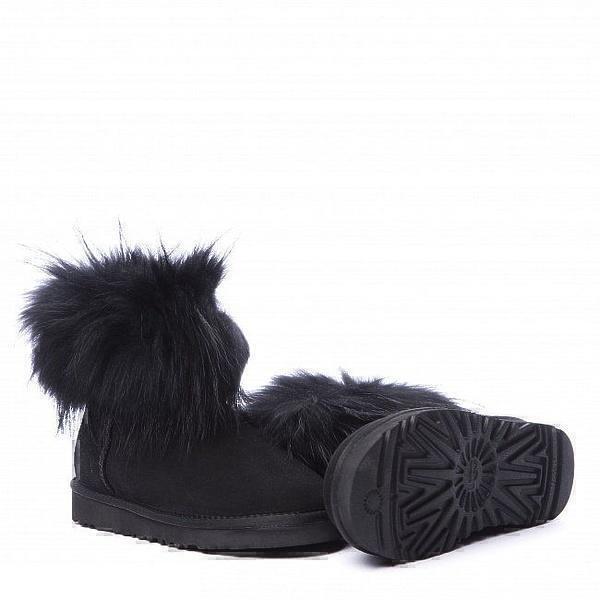 UGG Fox Fur Mini Ultra Black фото #3 в «GetKeds»