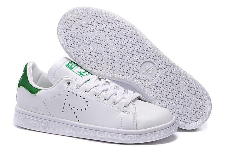 Кроссовки Raf Simons x Adidas Stan Smith (White/Green) фото в «GetKeds»