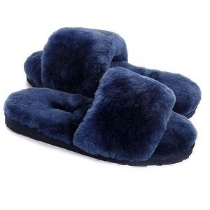 Угги UGG Fluff Slide Slippers Navy Blue