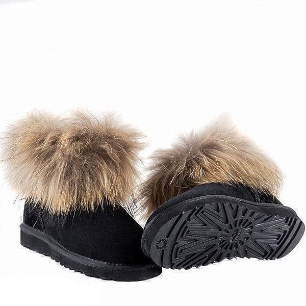 Угги UGG Fox Fur Mini Black фото в «GetKeds»