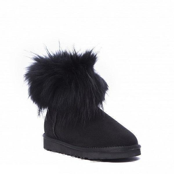 UGG Fox Fur Mini Ultra Black фото #4 в «GetKeds»