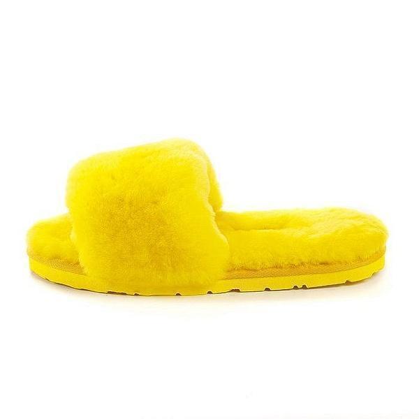 UGG Fluff Slide Slippers Yellow фото #2 в «GetKeds»