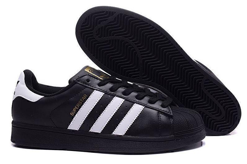 Кроссовки Adidas Superstar (Core Black/White) фото в «GetKeds»