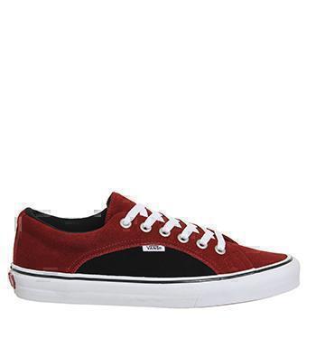 Кеды Vans lampin black red  фото в «GetKeds»
