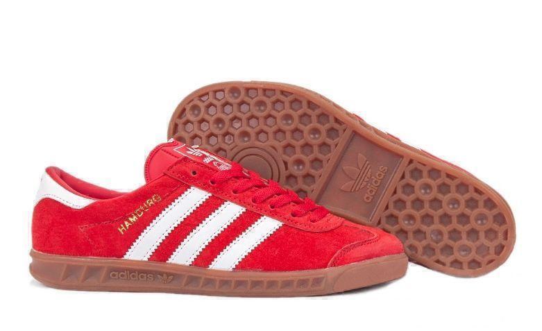 Кроссовки Adidas Hamburg (Red/White) фото в «GetKeds»