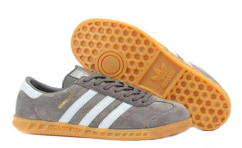 Кроссовки Adidas Hamburg (Grey/White) фото в «GetKeds»