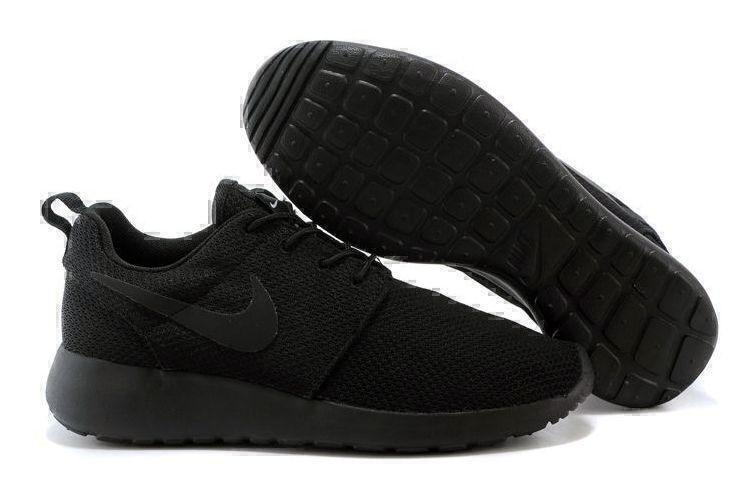 Кроссовки Nike Roshe Run (Black) фото в «GetKeds»