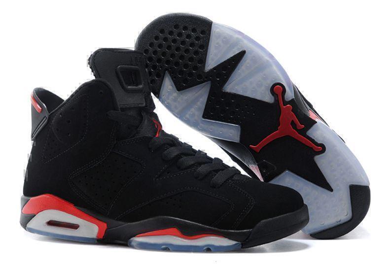 Кроссовки Air Jordan 6 Retro Black Infrared (Black/Red) фото в «GetKeds»