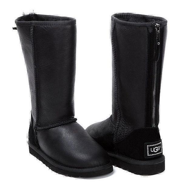 Угги UGG Tall Zip Metallic Black фото в «GetKeds»