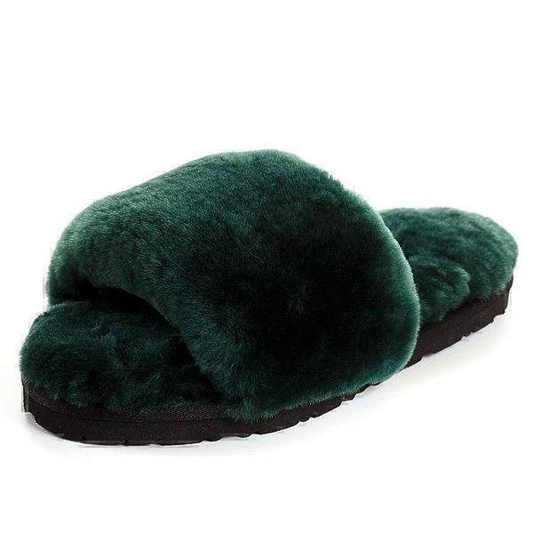 UGG Fluff Slide Slippers Dark Green фото #3 в «GetKeds»