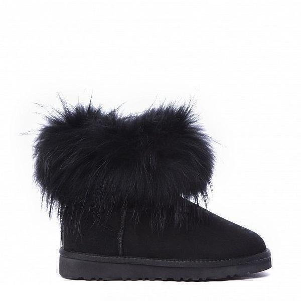 UGG Fox Fur Mini Ultra Black фото #2 в «GetKeds»