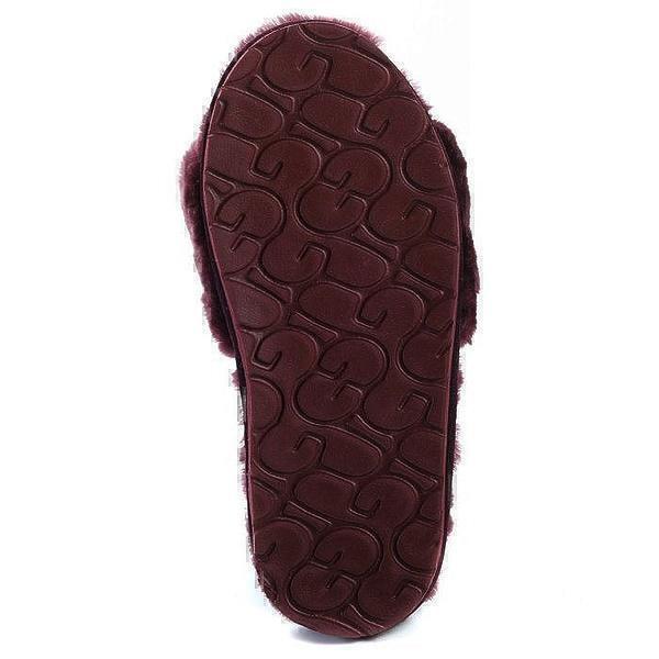 UGG Fluff Slide Slippers Dark Purple фото #5 в «GetKeds»
