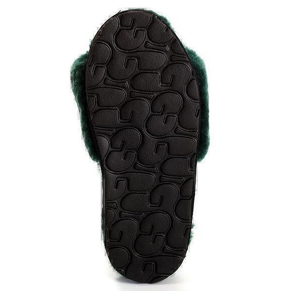 UGG Fluff Slide Slippers Dark Green фото #5 в «GetKeds»