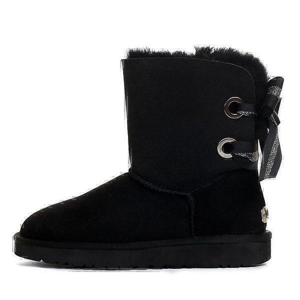UGG Bailey Bow Customizable Black фото #2 в «GetKeds»
