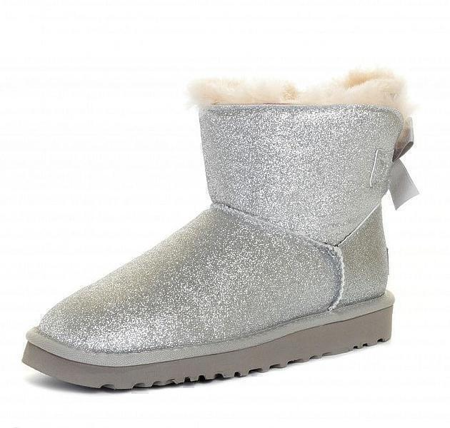 UGG Mini Bailey Bow Sparkle Boot Grey фото #3 в «GetKeds»