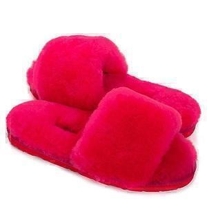 Угги UGG Fluff Slide Slippers Rose Red