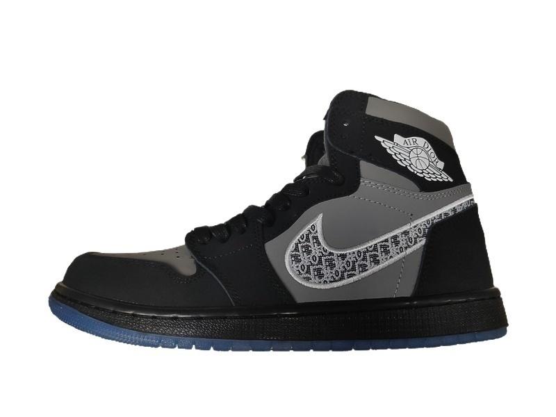 Кроссовки Dior x Air Jordan 1 High OG Black Grey фото в «GetKeds»