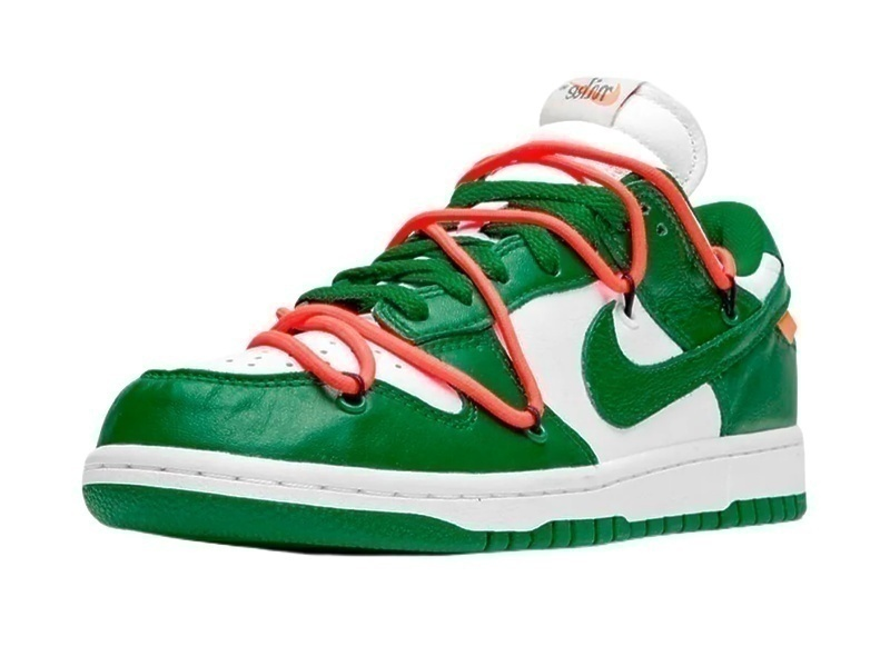 Nike Air Force 1 SB Dunk Low Off-White Green фото #2 в «GetKeds»