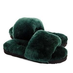 Угги UGG Fluff Slide Slippers Dark Green