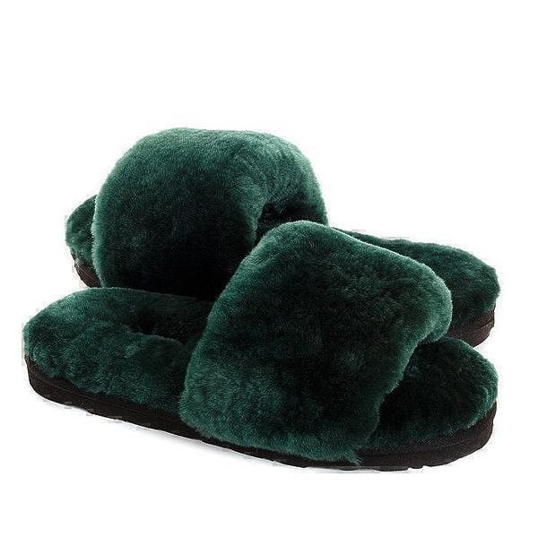 Угги UGG Fluff Slide Slippers Dark Green фото в «GetKeds»