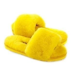 Угги UGG Fluff Slide Slippers Yellow