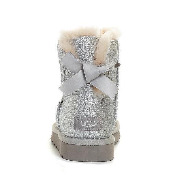 UGG Mini Bailey Bow Sparkle Boot Grey фото #4 в «GetKeds»