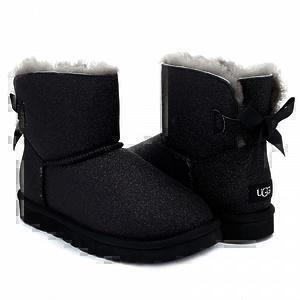 UGG Mini Bailey Bow Sparkle Boot Black