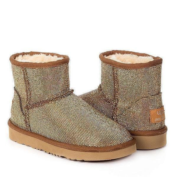 Угги UGG & Jimmy Choo Mini Serein II Gold фото в «GetKeds»