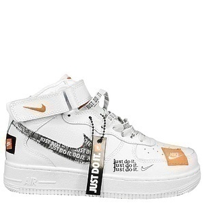 Кроссовки Nike Air Force 1 Mid Just Do It White