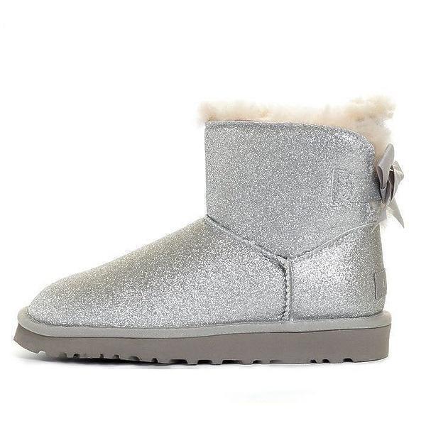 UGG Mini Bailey Bow Sparkle Boot Grey фото #2 в «GetKeds»