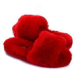 Угги UGG Fluff Slide Slippers Red