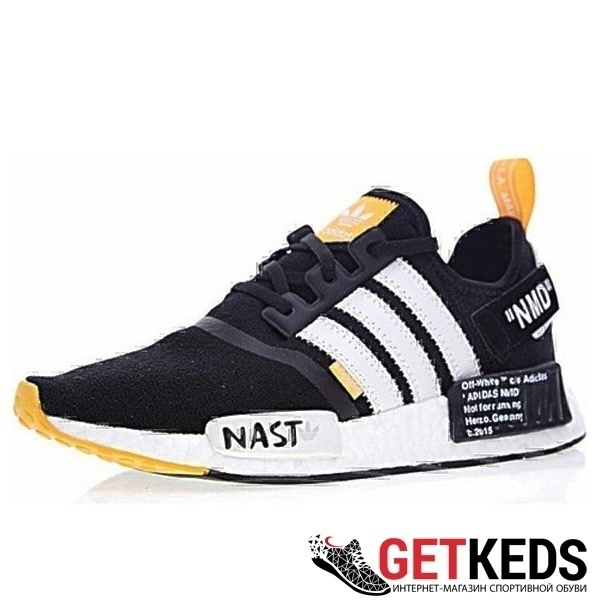 Кроссовки Adidas nmd 1x off white black orange nast фото в «GetKeds»