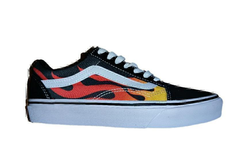 Кроссовки Vans old skool fire
