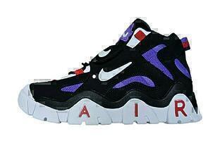 Nike air barrage black purple