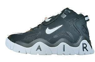 Кеды Nike air barrage black grey