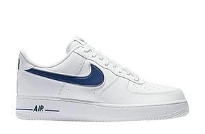 Кроссовки Nike air force 1 '07 3 white deep royal'