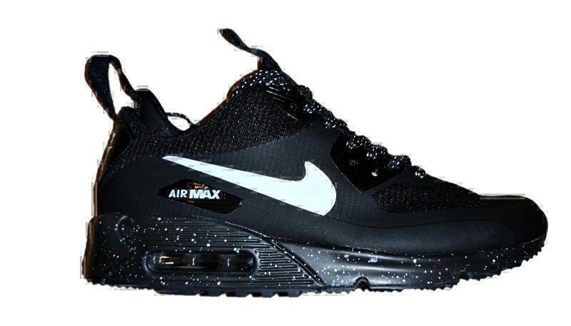 Кроссовки Nike air max 90 mid black white фото в «GetKeds»
