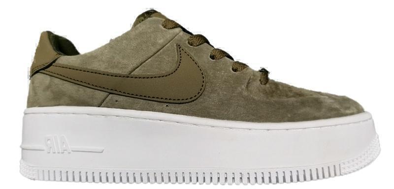 Кроссовки Nike air force 1 sage green фото в «GetKeds»
