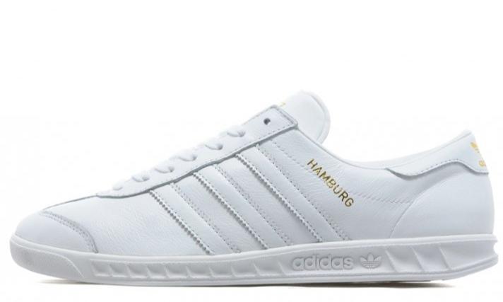 Кеды Adidas hamburg white  фото в «GetKeds»