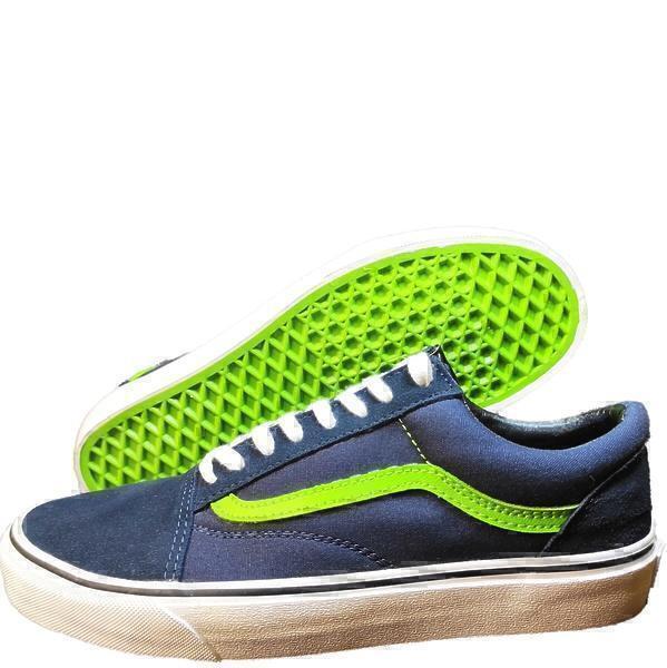 Vans old skool dress blues/ green flash фото #2 в «GetKeds»