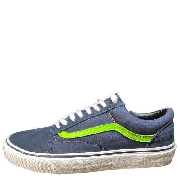 Кроссовки Vans old skool dress blues/ green flash